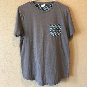 Hollister Mens Grey Short Sleeve Pocket T-Shirt